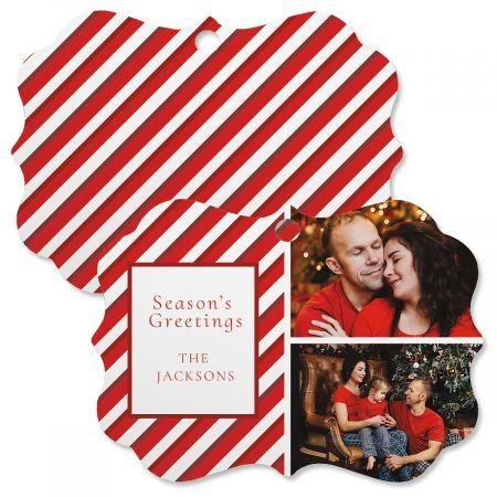 Candy Cane Custom Photo Ornament - Bracket 2