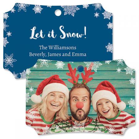Let It Snow Custom Photo Ornament – Deluxe