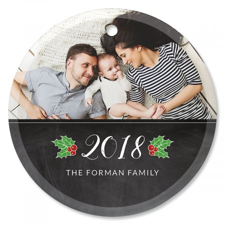 Peace Photo Ornament - Glass Round