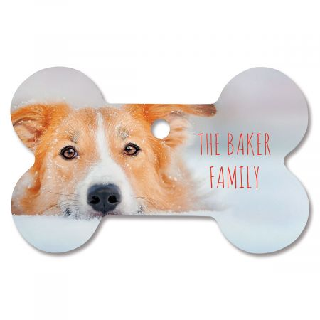 Family Name Custom Photo Ornament - Bone