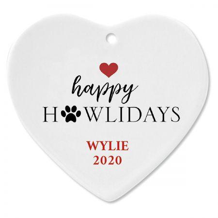 Happy Howlidays Custom Christmas Ornament