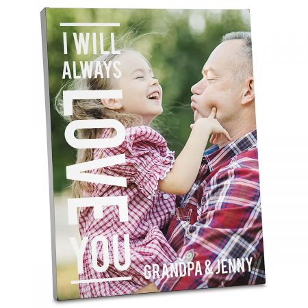 Always Love Custom Photo Plaque