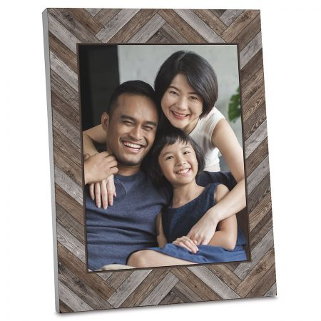 Wood Chevron Custom Photo Plaque