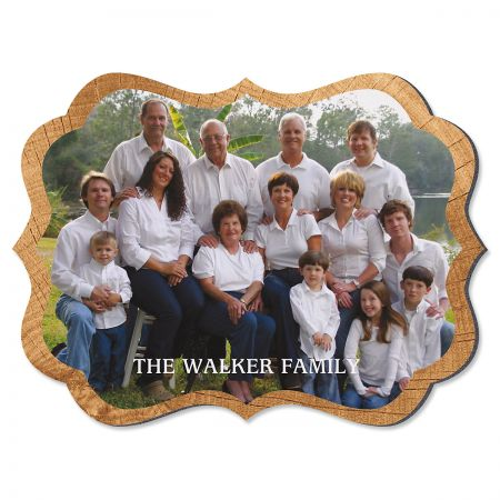 Midtone Wood Family Name Benelux Photo Plaque