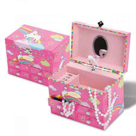 Unicorn Personalized Musical Jewelry Box