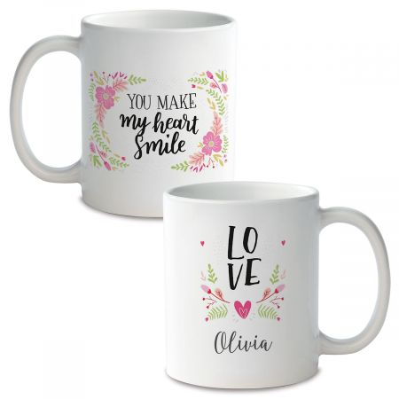 Floral Personalized Ceramic Mug
