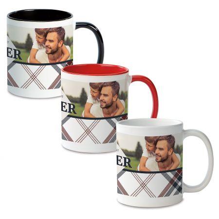 Plaid Ceramic Photo Mug