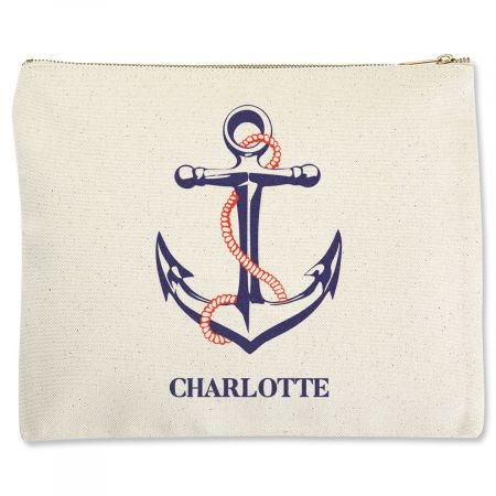 Custom Anchor Zippered Pouches