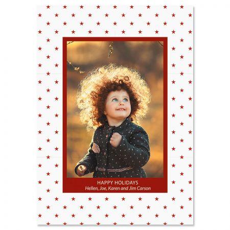 Holiday Stars Custom Photo Christmas Cards
