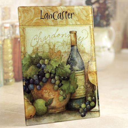 Wine Bottle Custom Glass Cutting Board