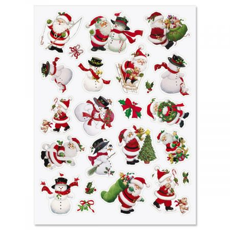 Santa & Snowman Stickers - Buy 1 Get 1 Free