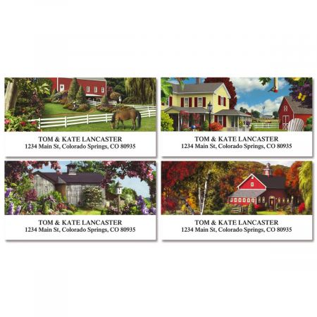 Country Life Deluxe Return Address Labels (4 Designs)