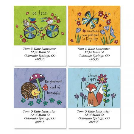 Whimsy Select Return Address Labels  (4 Designs)
