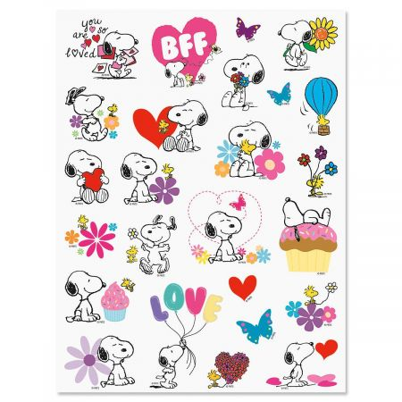 Hearts & Flowers Snoopy™ Stickers