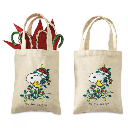 Snoopy™ Canvas Treat Bags