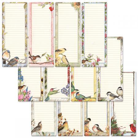 Seasonal Birds Shopping List Pads