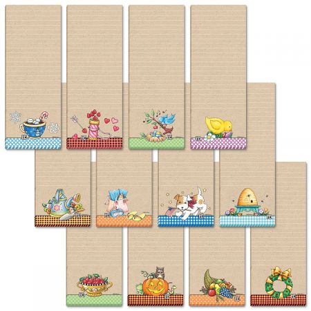 Mary Engelbreit Small Listpads   ~~ Set of 12 ~~ FREE SHIPPING ~~