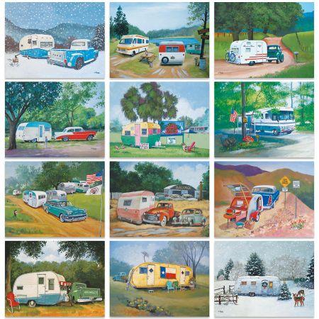 2020 Vintage Travel Trailers Wall Calendar