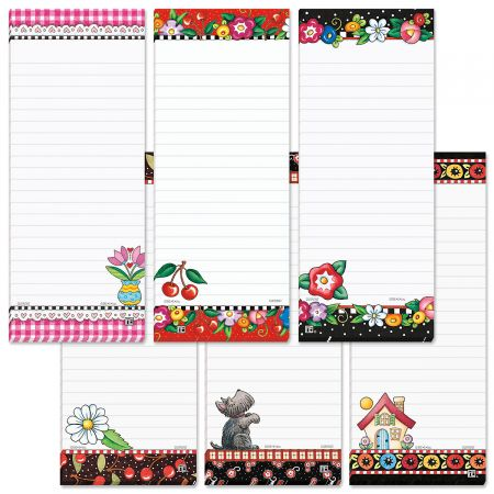 Magnetic Lined Shopping List Pads by Mary Engelbreit