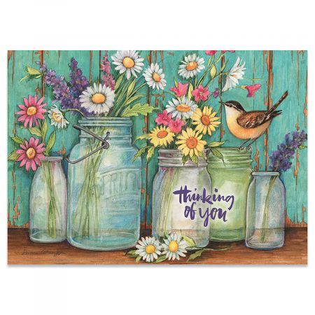 Country Jar Thinking of You Cards – Buy 1 Get 1 Free
