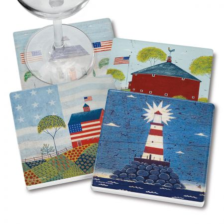 4 Americana Coasters