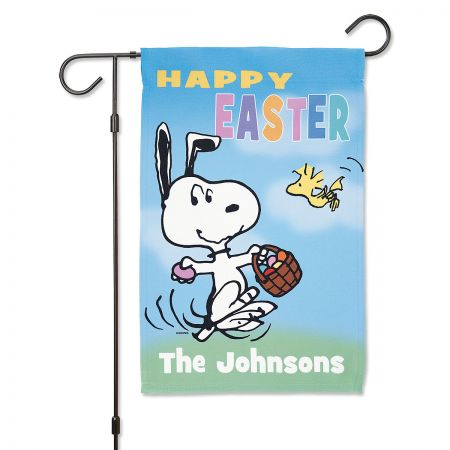 Personalized PEANUTS® Easter Garden Flag
