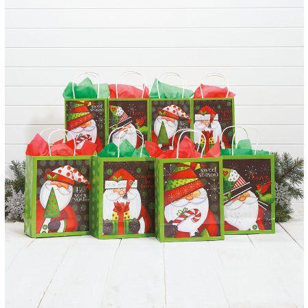 Graphic Santa Gift Bag Value Pack