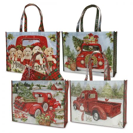 Red Truck Shopping Totes