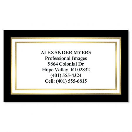 Black & Gold Foil Business Cards