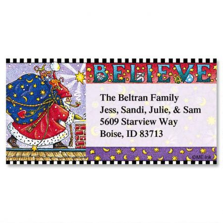 Believe  Border Return Address Labels