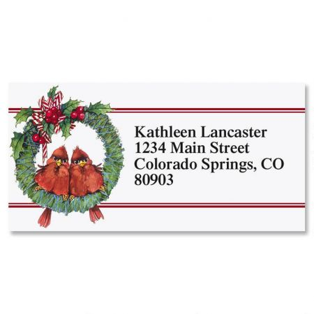 Holiday Pair Border Return Address Labels