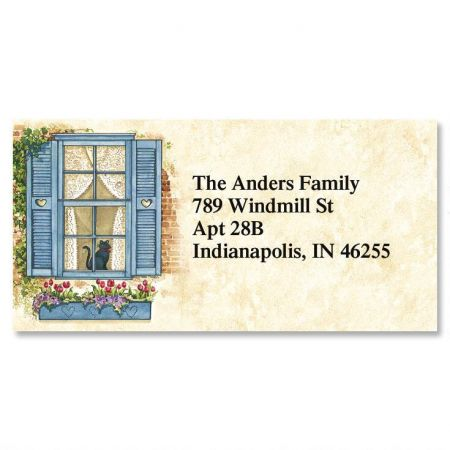 Window Seat Border Return Address Labels