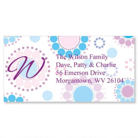 Bright and Bold Initial Border Return Address Labels