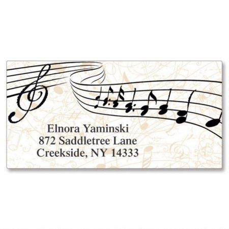 Symphony  Border Return Address Labels