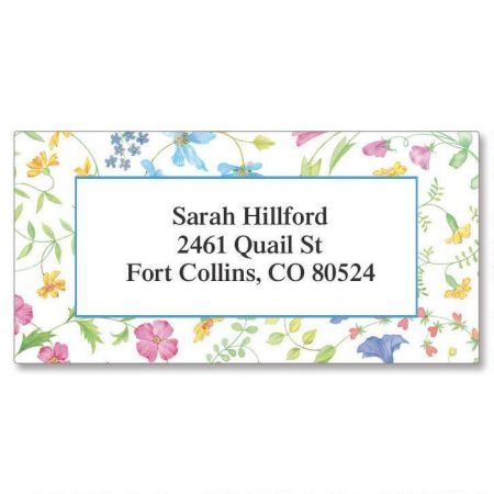 Delicate Floral  Border Return Address Labels