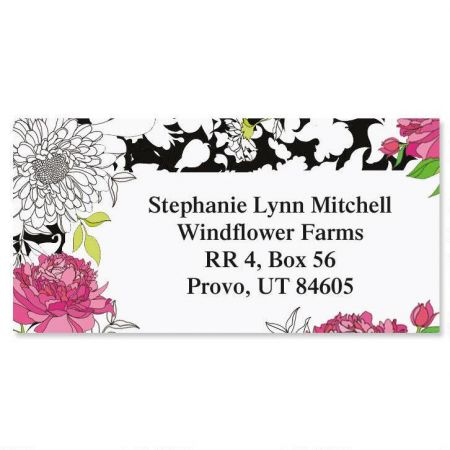 Just One Border Return Address Labels