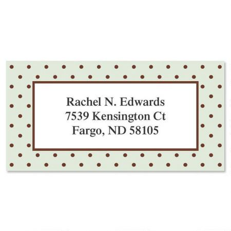 Celadon Border Return Address Labels