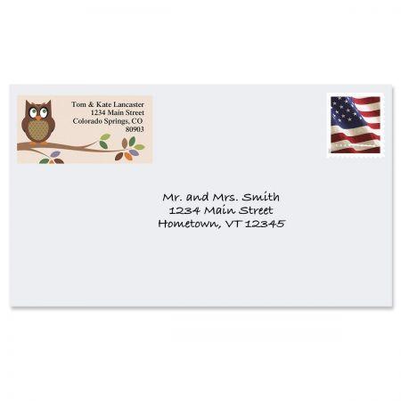 Owl Border Return Address Labels