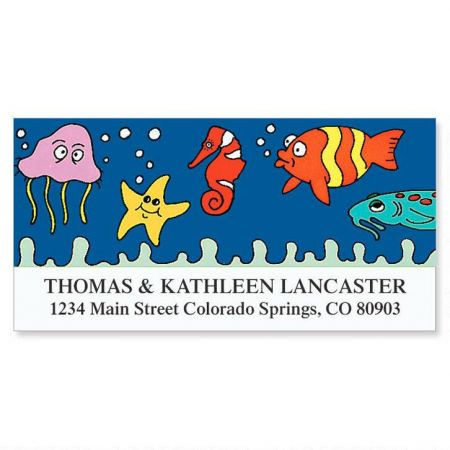 Under the Sea Deluxe Return Address Labels