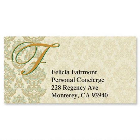 Regency Initial Border Return Address Labels