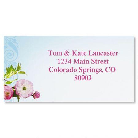 Cherry Blossom Border Return Address Labels