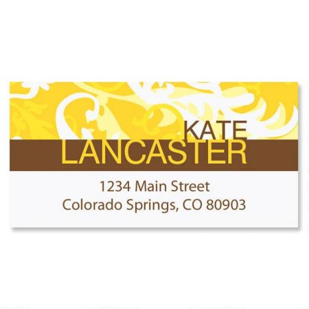 Golden Hue  Border Return Address Labels