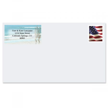 Seashore  Border Return Address Labels