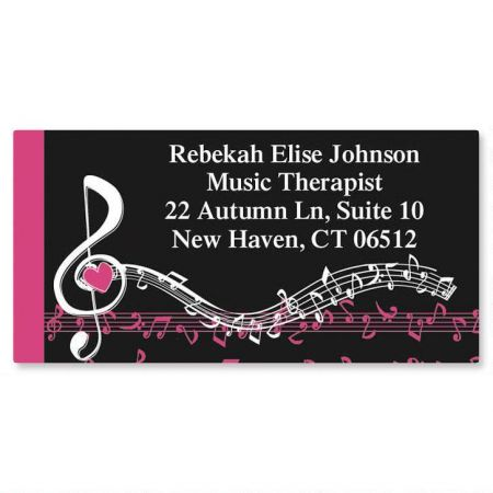 Heart and Song Music Border Return Address Labels