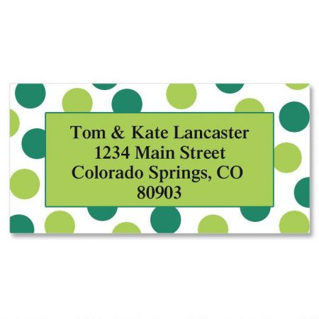 Random Teal Border Return Address Labels