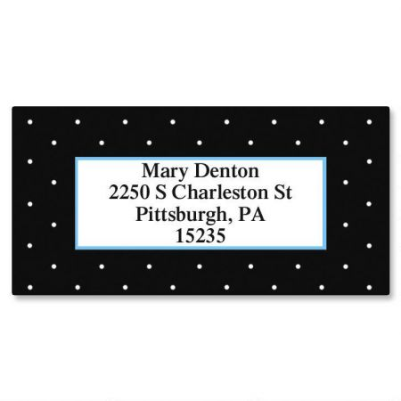 Tiny Dots Border Return Address Labels