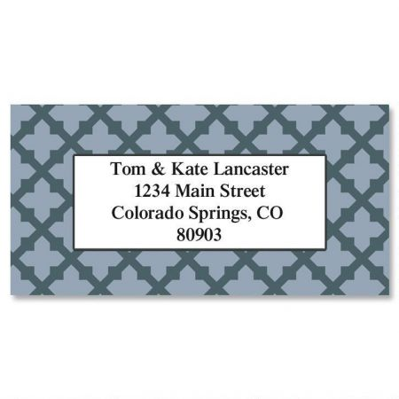 Quatrefoil  Border Return Address Labels