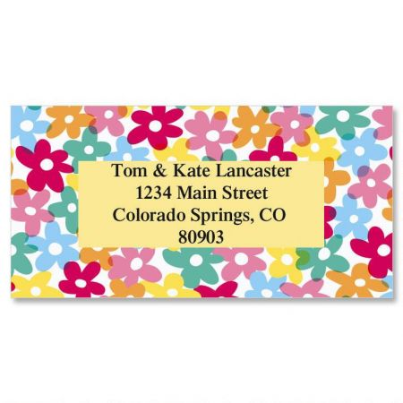 Mini Posies Border Return Address Labels