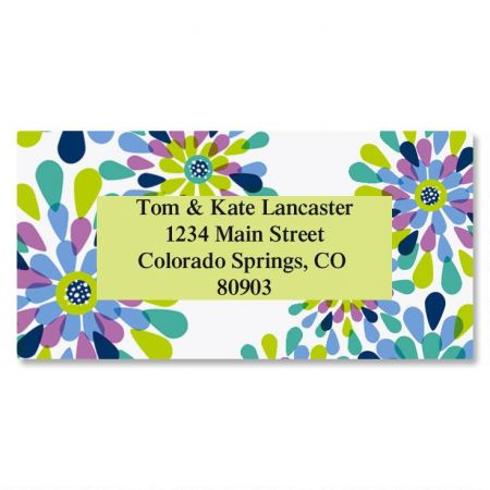 Fresh Blooms Border Return Address Labels