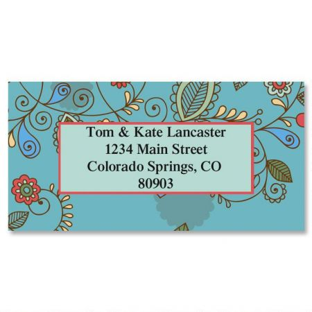 Paisley Border Return Address Labels